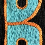 Fridge Magnet (small): Blue & Brown 'B'