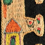 Fridge Magnet (small): Rural home 'E'