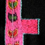 Fridge Magnet (small): Pink Plant 'E'