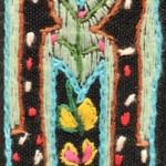 Fridge Magnet (small): Twin Giraffe  'M'