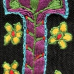 Fridge Magnet (small): Flowers 'T'
