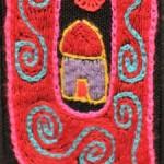 Fridge Magnet (small): Pink Home 'U'