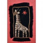 Greeting Card: Giraffe under the Red Sun