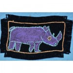 Greeting Card: Purple Rhinoceros