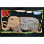 Mini Tapestry: Great Lumbering Elephant