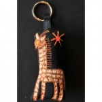 Keyring: Giraffe under the Red Sun