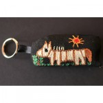 Keyring: Brown Striped Zebra