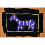 Greeting Card: Purple Zebra