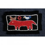 Greeting Card: Red Crescent Moon Horn Cow
