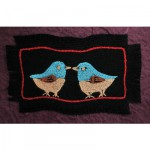 Greeting Card: Two Blue Crest Robbins