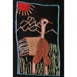 Mini Tapestry: Ostrich