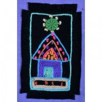 Greeting Card: African Hut under a Green Star