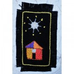 Greeting Card: African Hut under a White Star