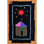 Greeting Card: African Star under a Red Star