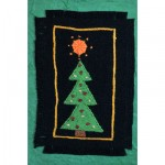 Greeting Card: Triangular Christmas Tree