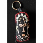 Keyring: Red Tipped Cornrows