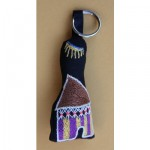 Keyring: Purple Striped Hut