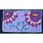 Mini Tapestry: Purple Sunflowers