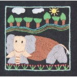 Square Frame: Brown Elephant
